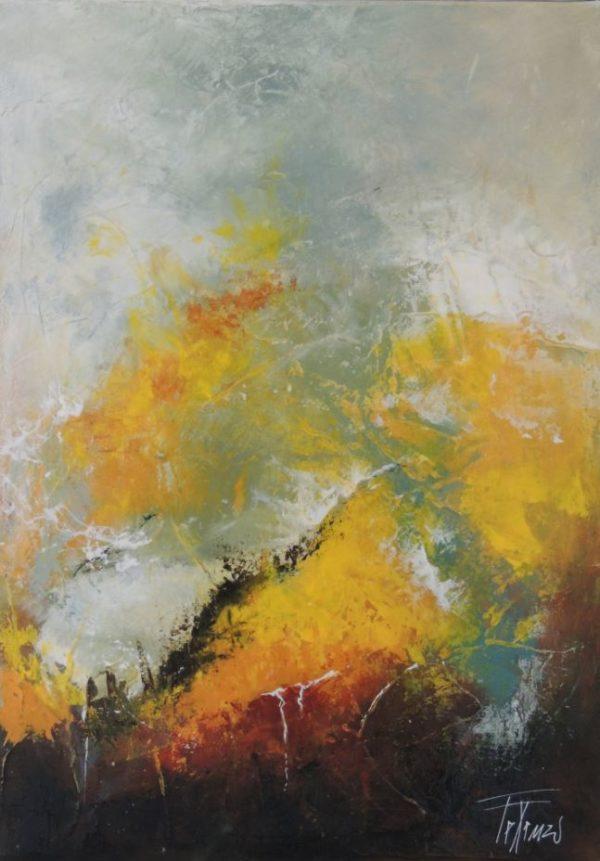 Terra e acqua 1 - 38x55 - Acrylique sur toile