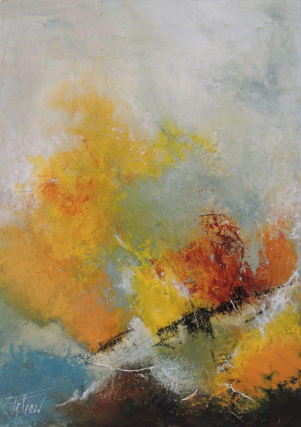 Terra e acqua 2 38x55 Acrylique sur toile