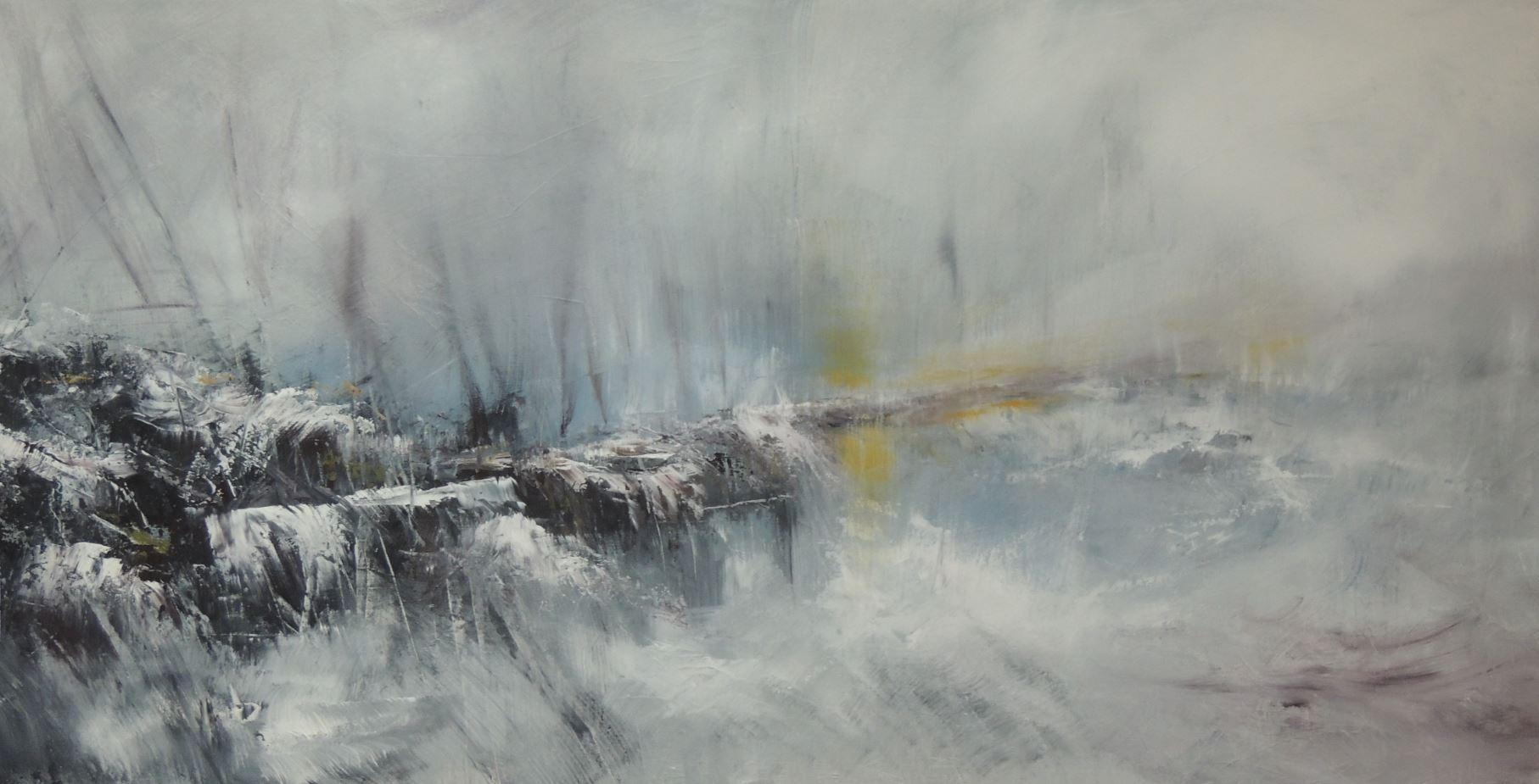 Grigio 3 - 80 x 160 - Acrylique sur toile
