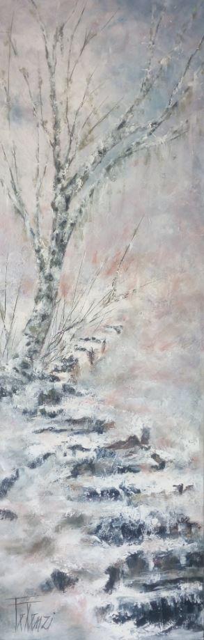 Jour de neige 1 - 50 x120 - Acrylique sur toile
