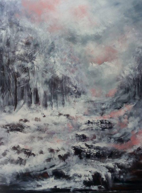 Jour de neige 2 - 90 x112 - Acrylique sur toile